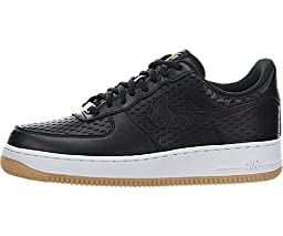 Nike Women\'s Air Force 1 \'07 Prm Black/Black/Summit White Basketball Shoe 7.5 Women US