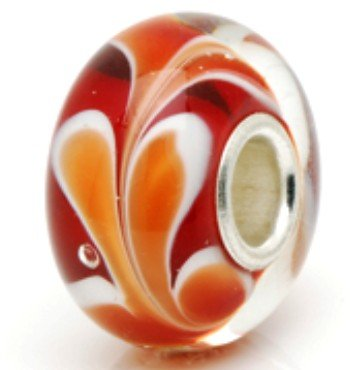 Dark Red and Orange Sweet Dream Garden .925 Silver