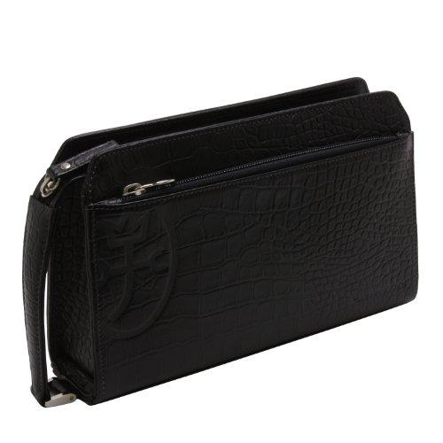 [カステルバジャック] CASTELBAJAC メンズワンファスナーセカンドバッグ(スパーク)063202 (クロ-black)