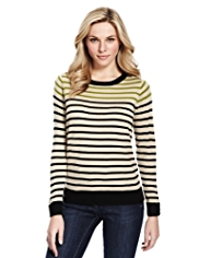 M&S Collection Cashmilon™ Striped Jumper