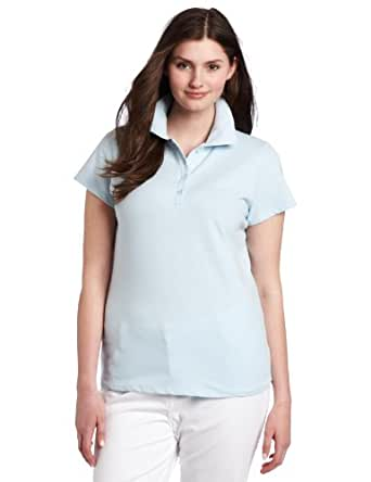 BASIC Southpole Juniors Plus-Size Basic Solid Color Polo, Baby Blue, 1X