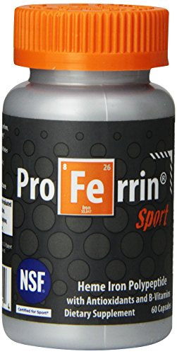 Proferrin Sport Daily Nutritional Supplement Capsules, Orange/Gray, 60 Count