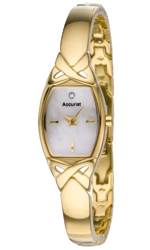 Accurist Ladies Quartz Watch with Mother Of Pearl Dial Analogue Display and Other Bracelet LB1470