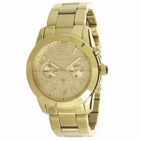 Michael Kors MK5726 41mm Gold Steel Bracelet & Case Mineral Women's Watch