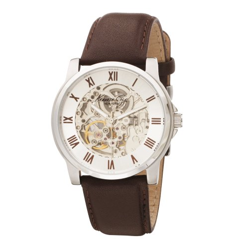 Kenneth Cole New York Men&#8217;s KC1515 Automatic Brown Leather Strap Watch