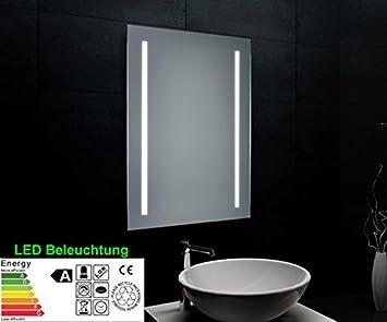 Specchio da bagno con illuminazione a led cm casa e cucina