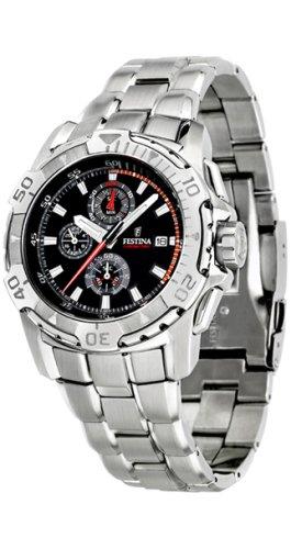 Festina - Reloj de pulsera hombre, acero inoxidable, color plateado
