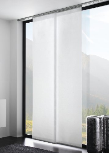 fl chenvorhang schiebegardine start uni transparent farbe. Black Bedroom Furniture Sets. Home Design Ideas