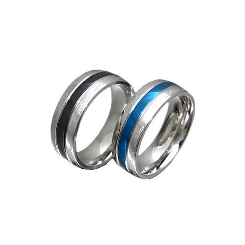 ステンレスアクセサリー リング・指輪 メンズ ブルー・ブラック 青・黒 アラベスク sr0117 【ブルー-22号】