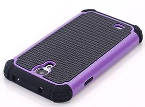 CaseMore Purple Plastic + Silicon Material Protective Armor Case for Samsung Galaxy S4 S IV i9500