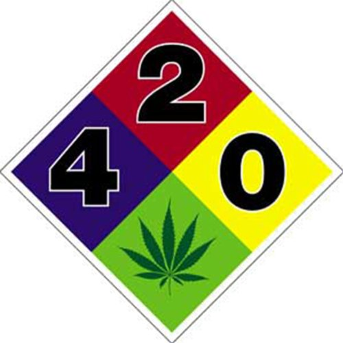 Licenses Products HWY 420 Hazard Sticker