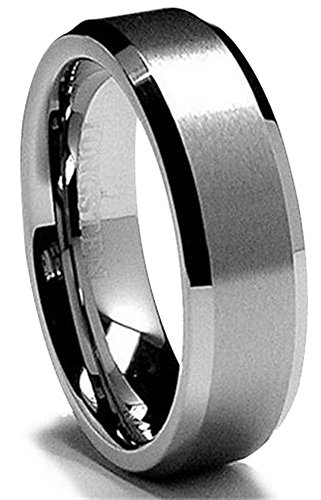 King Will Men's 6mm Tungsten Carbide Ring Wedding Band Matte/Brushed Finish in Comfort Fit(9) (Triton Tungsten Rings For Men compare prices)