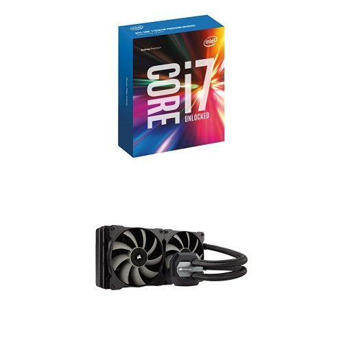 Intel Boxed Core I7-6700K 4.00 GHz 8M Processor Cache 4 LGA 1151 BX80662I76700K with Corsair Hydro Series H115i Extreme Performance Liquid CPU Cooler Cooling (Intel I7 Cooling compare prices)