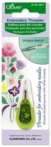 New Clover Needle Threader For Embroidery Needles-Apple Green