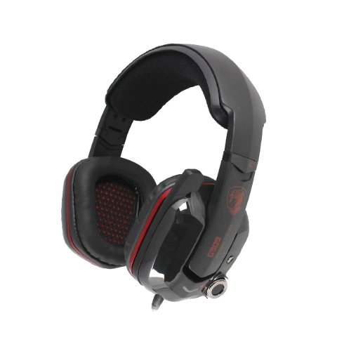 Somic G909 Black Over The Ear Virtual 7.1 Channel Game Headphone With Upgrade Damping Beam Gift For Girl