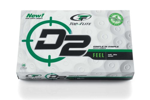 Top-Flite D2 Feel Golf Balls (15-Pack)