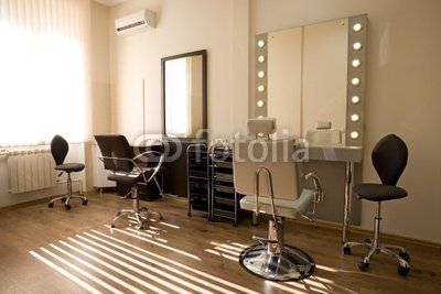 "Wallmonkeys Peel and Stick Wall Decals - Modern Salon Make-up Artist and Hairdresser - 24""W x 16""H Removable Graphic"