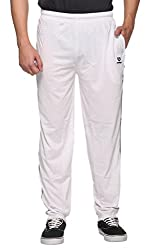 WARM UP - WHITE -Track Pants with Zipper Pockets : Size-M