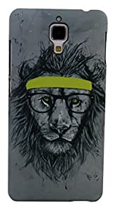 Parallel Universe Glow in the Dark Uber Cool Lion backcover for Xiaomi Mi4