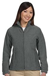 HA LADIES FULL ZIP FLEECE JKT (CHARCOAL) (2XL)