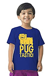 Mintees 100% Combed Cotton Boy's Graphic Print Royal Blue Colour Tshirt MBRNT-09-049_10-11Yrs