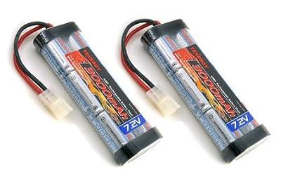 2 pcs 7.2V 3000mAh Flat NiMH High Power Battery Packs with Tamiya Connectors for RC Cars