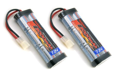 2 pcs 7.2V 3000mAh Flat NiMH High Power Battery Packs with Tamiya Connectors for RC Cars