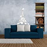 Eiffel Tower Removable Mirror Wall Decals Home Room Decor Mural Stickers