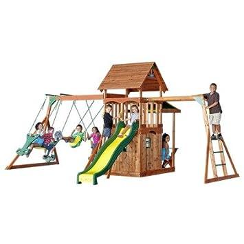 Review Backyard Discovery – Saratoga Cedar Swing Set ...