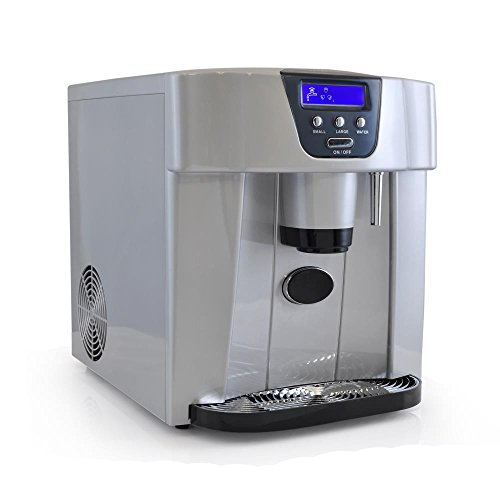 NutriChef PICEM75 Countertop Ice Maker & Dispenser, Silver