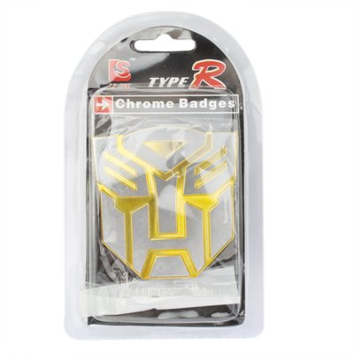 Emblème Transformateurs Voiture Autobot Décoratif Badge Chromé (Jaune)