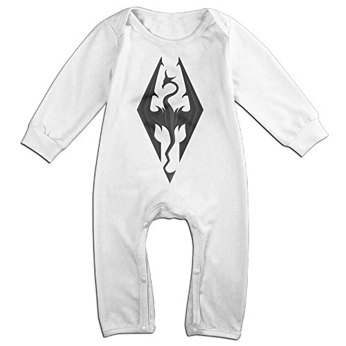 HOHOE Babys Video Game Skyrim Logo Long Sleeve Jumpsuit Outfits 18 M