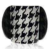 Lucia Black Squares Print Medium Hair Clip Clamp
