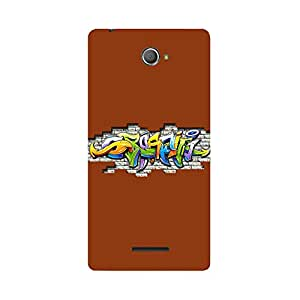 Skintice Designer Back Cover with direct 3D sublimation printing for Sony Xperia E4