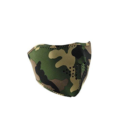 Zan Headgear Reversible Half Mask, Camo/High-Vis Orange front-568446