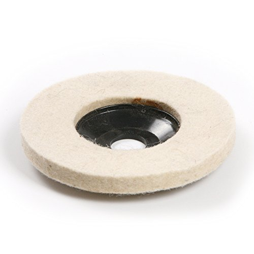 Atoplee 10pcs Diameter 100mm Wool Buffing Polishing Wheel Pad Buffer Disc Bore Dia 16mm (Grinder Buffer compare prices)