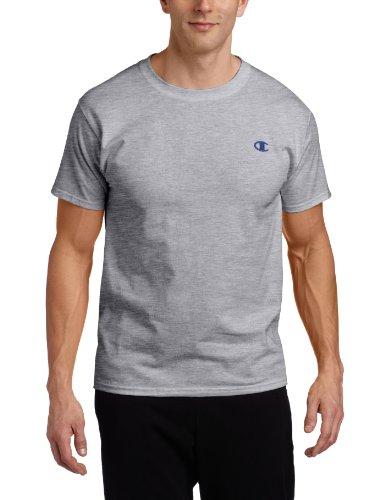 Champion Men's Cotton Jersey Mens T Shirt, XL-Oxford Gray