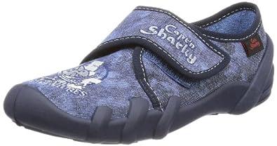 Capt'n Sharky 230184, Jungen Hausschuhe, Blau (jeansblau 51), EU 35