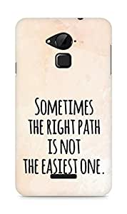 AMEZ the right path is not easy Back Cover For Coolpad Note 3
