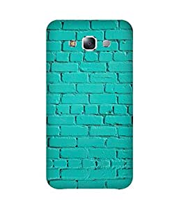 Turquoise Bricks Printed Back Cover Case For Samsung Galaxy E7