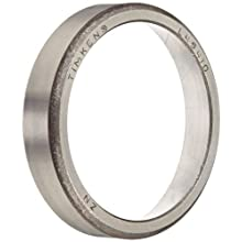 "Timken L45410 Tapered Roller Bearing, Single Cup, Standard Tolerance, Straight Outside Diameter, Steel, Inch, 1.9800"" Outside Diameter, 0.4200"" Width"