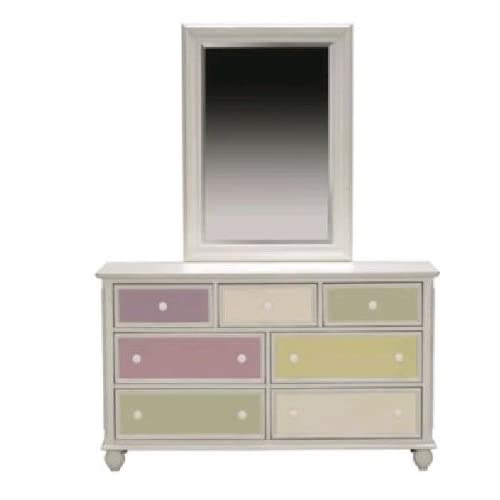 Colorworks White Dresser Mirror