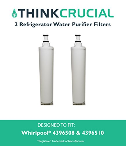 2 High Quality Whirlpool (RFC0500A) Refrigerator Water Purifier Filter, Premium Filtration, Fits Kenmore 46 9010, 46 9902, 46 9908, 9902, 9902P, 9010P, 9908, 9908P, NL240, WSW-1, 0460901000, 04609902000, 04609908000 and Much More, by Think Crucial