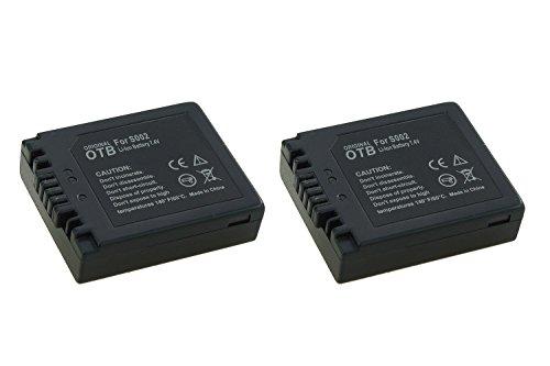 2x Akku CGA-S002, DMW-BM7 für Panasonic Lumix DMC-FZ1, FZ2, FZ3, FZ4, FZ5, FZ10, FZ15, FZ20
