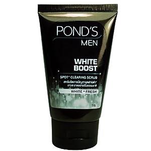 Ponds For Men White Boost Facial Foam Cleanser Cleansing Scrub