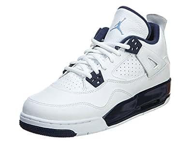 Air Jordan 4 Retro BG (White/Legend Blue-Midnight Navy) Remastered (3.5)