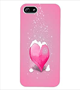 ColourCraft Snowing Heart Design Back Case Cover for APPLE IPHONE 5
