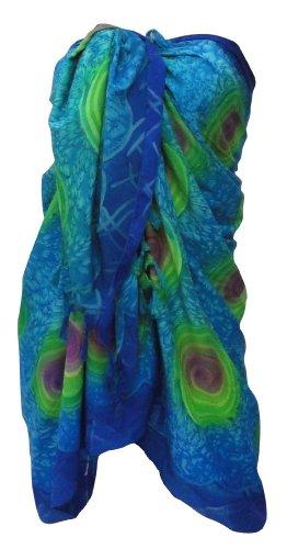 La Leela Self Printed Sarong Pareo Blue