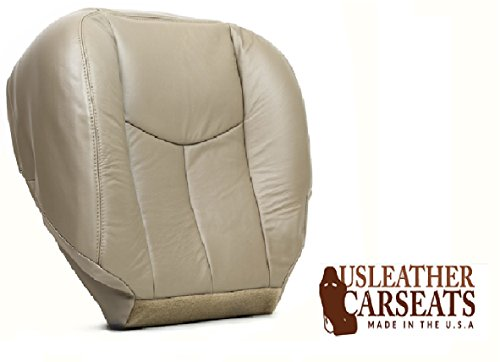 2003-2007 GMC Chevy Tahoe Silverado Suburban Yukon Sierra Driver Bottom Leather Seat Cover Tan (2005 Tahoe Leather Seat Cover compare prices)
