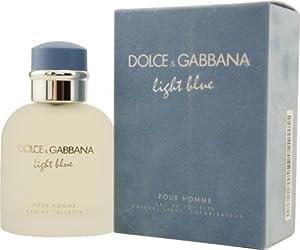 D & G Light Blue by Dolce & Gabbana for Men. Eau De Toilette Spray 1.3-Ounces